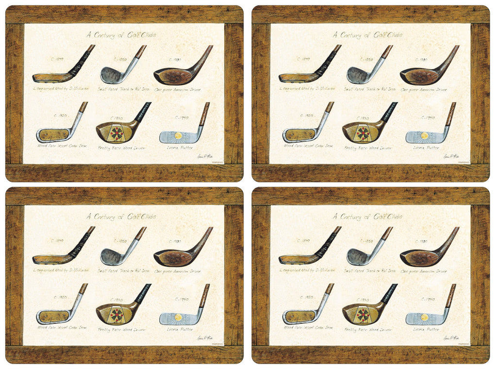 Pimpernel - History of Golf Placemats - Set of 4