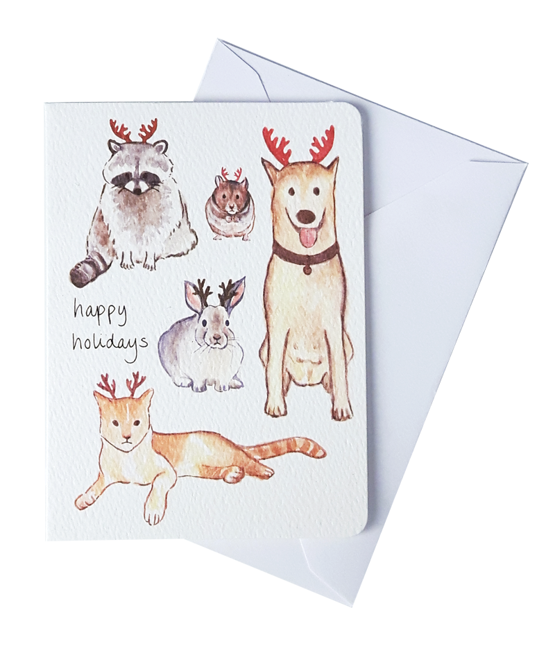 Gotamago - Animals Mini Card Set of 8
