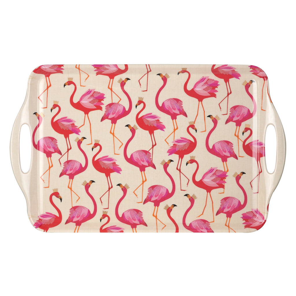 Pimpernel - Sara Miller Flamingo Large Melamine Handled Tray