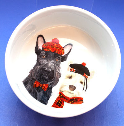 PPD - Pet/Dog Bowl - Angus and Fiona, Small