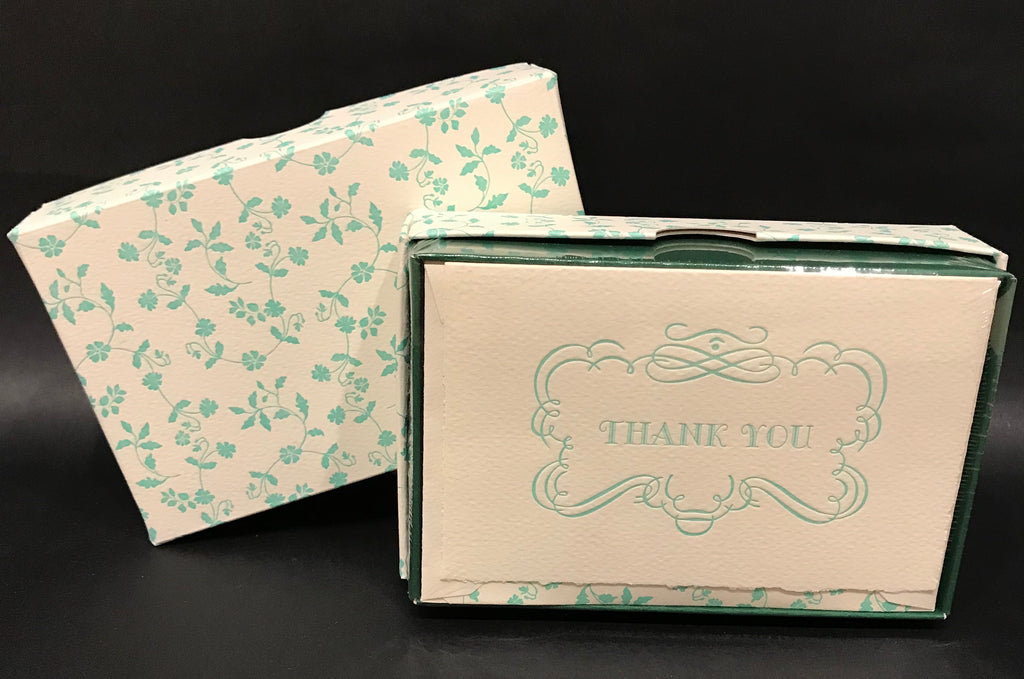 Rossi Thank You Cards - Green Floral