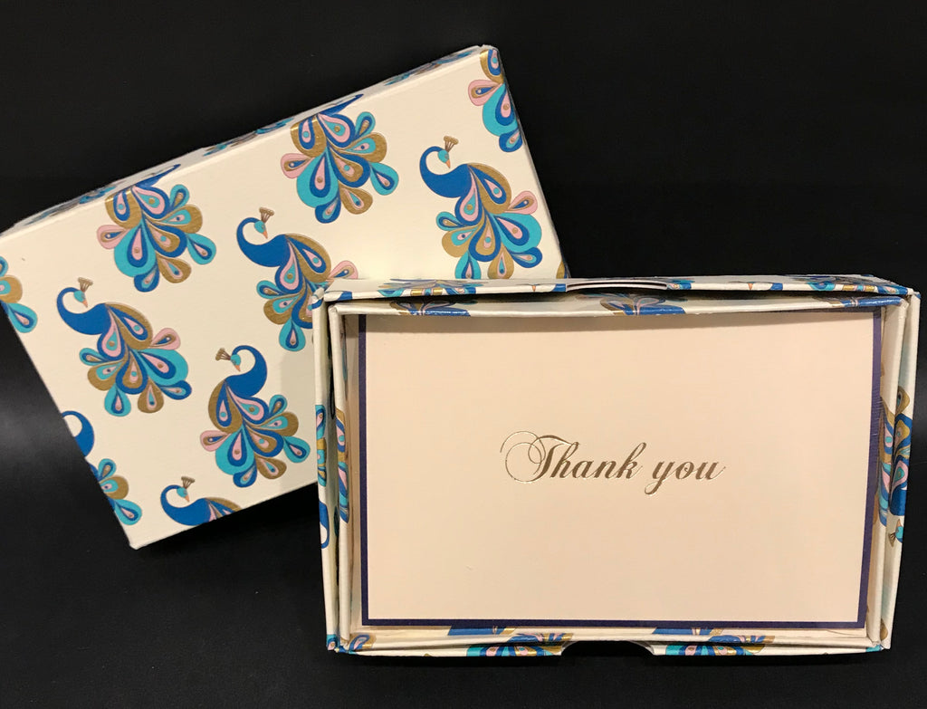 Rossi Thank You Cards - Peacock