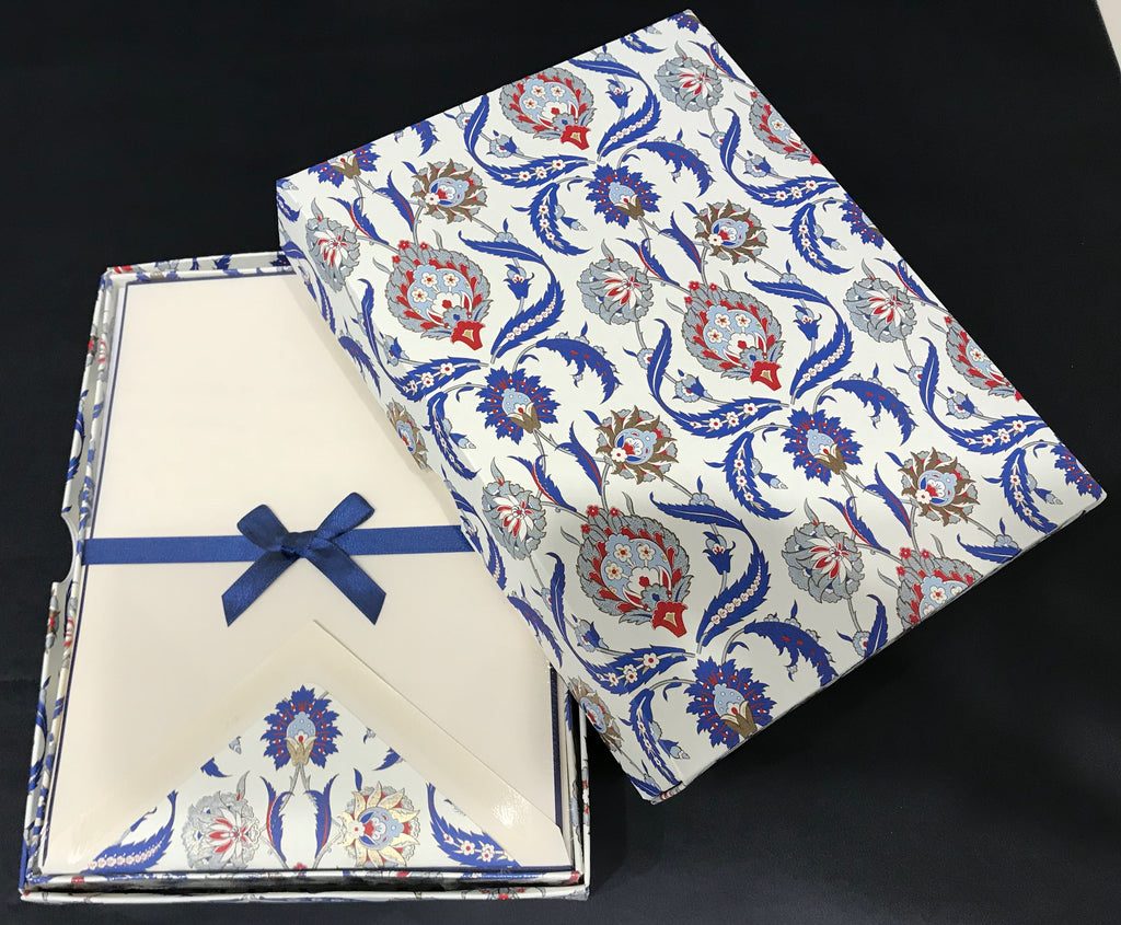 Rossi Writing Paper - Blue Acanthus