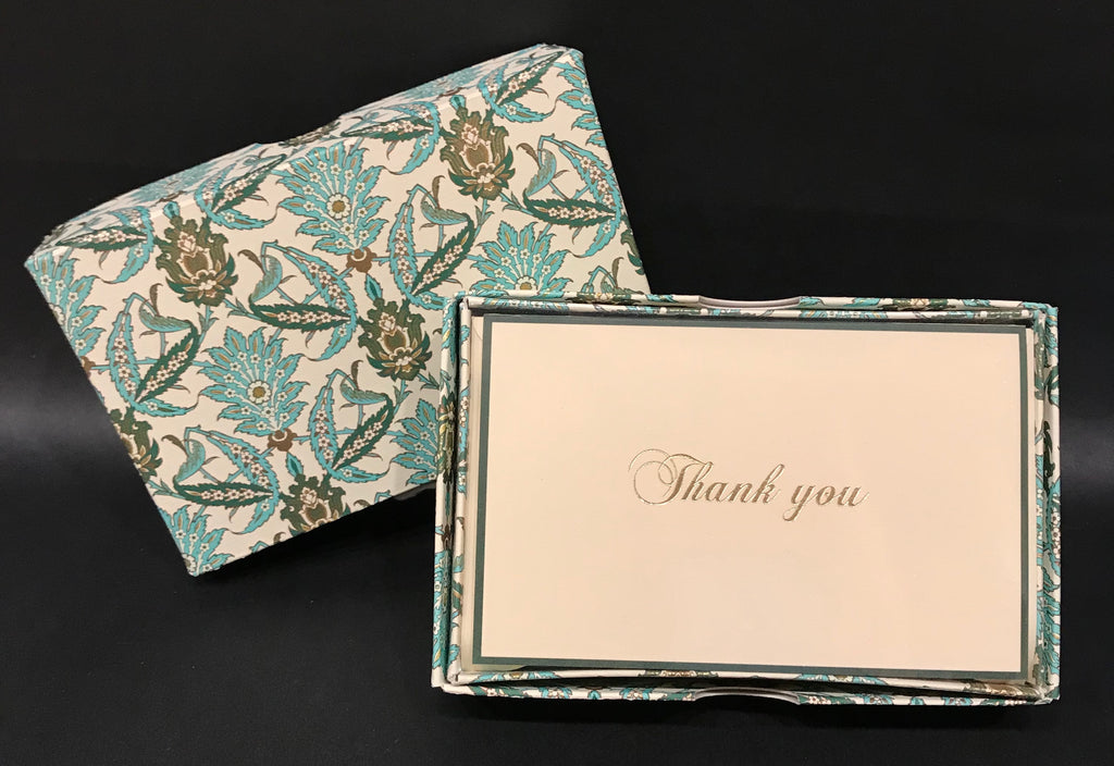 Rossi Thank You Cards - Green Acanthus