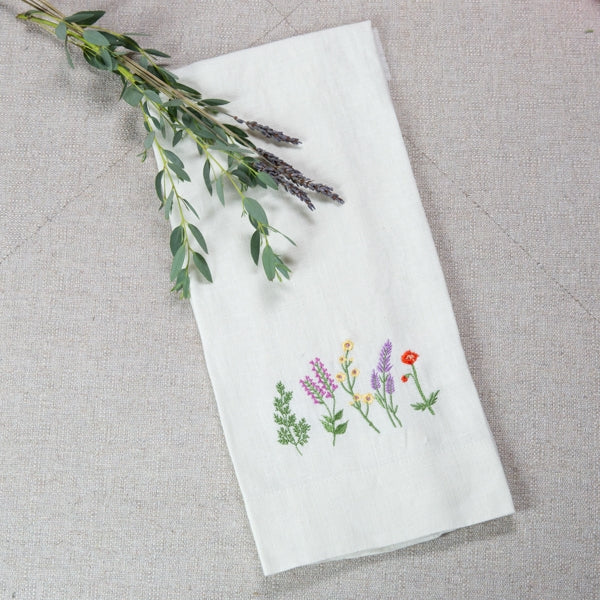 Crown Linen Designs - Wildflowers Linen Towel