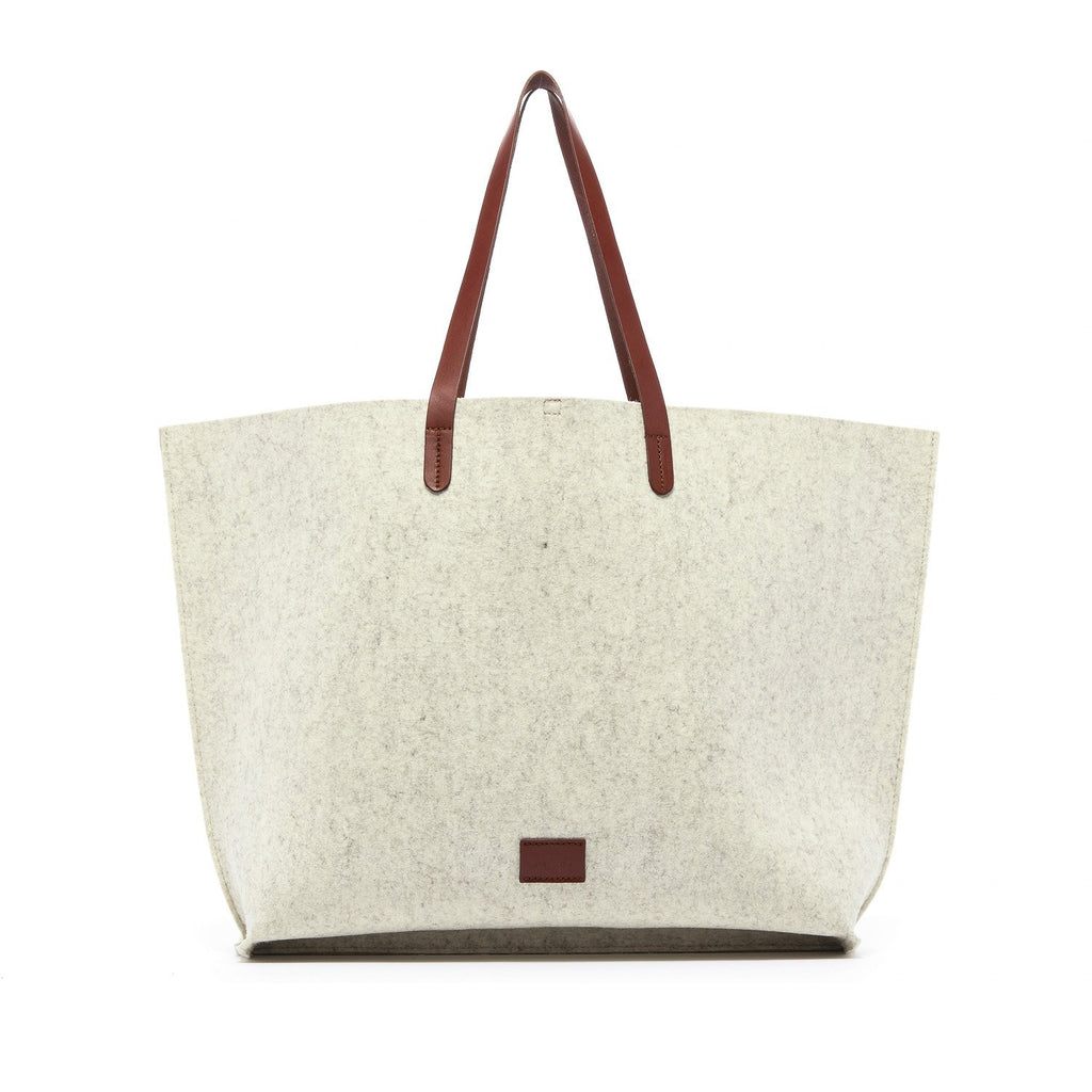 Graf Lantz - Hana Boat Bag Felt - Heather White/Sienna