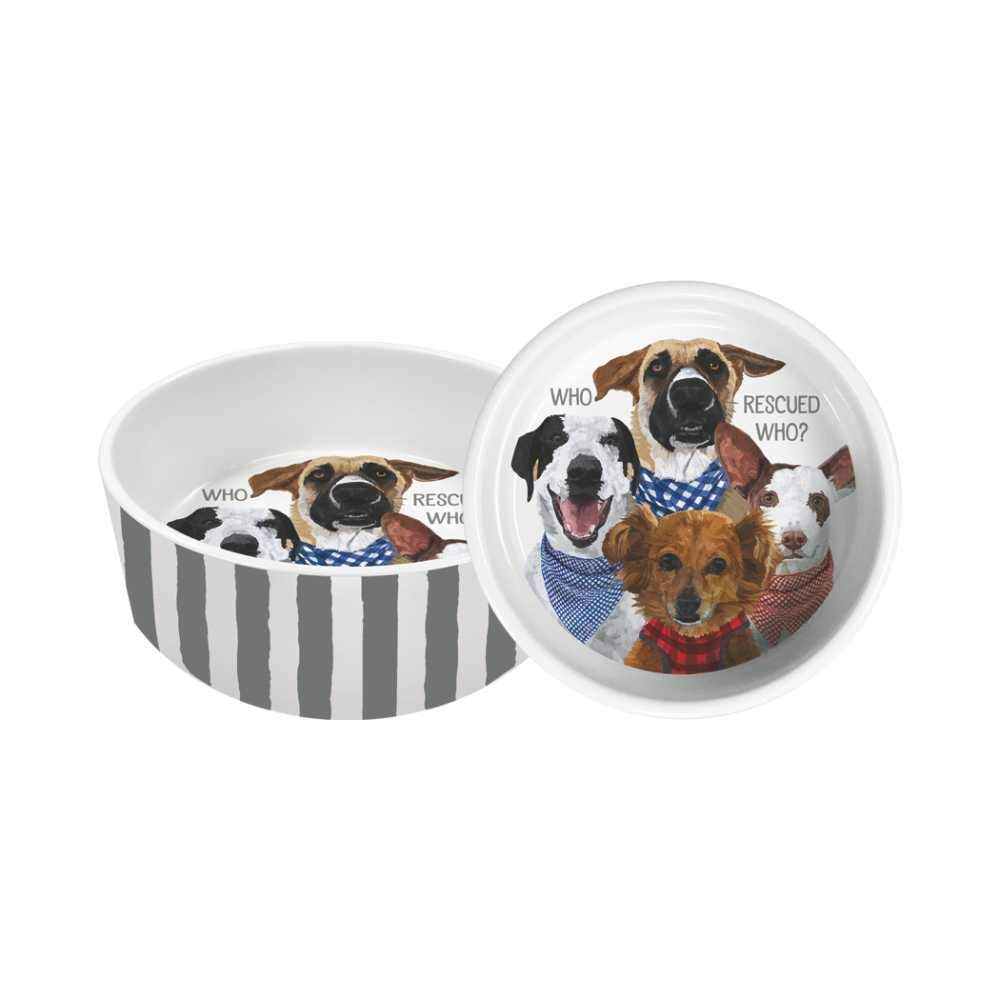 PPD - Pet/Dog Bowl - Who Rescued Who?, Small