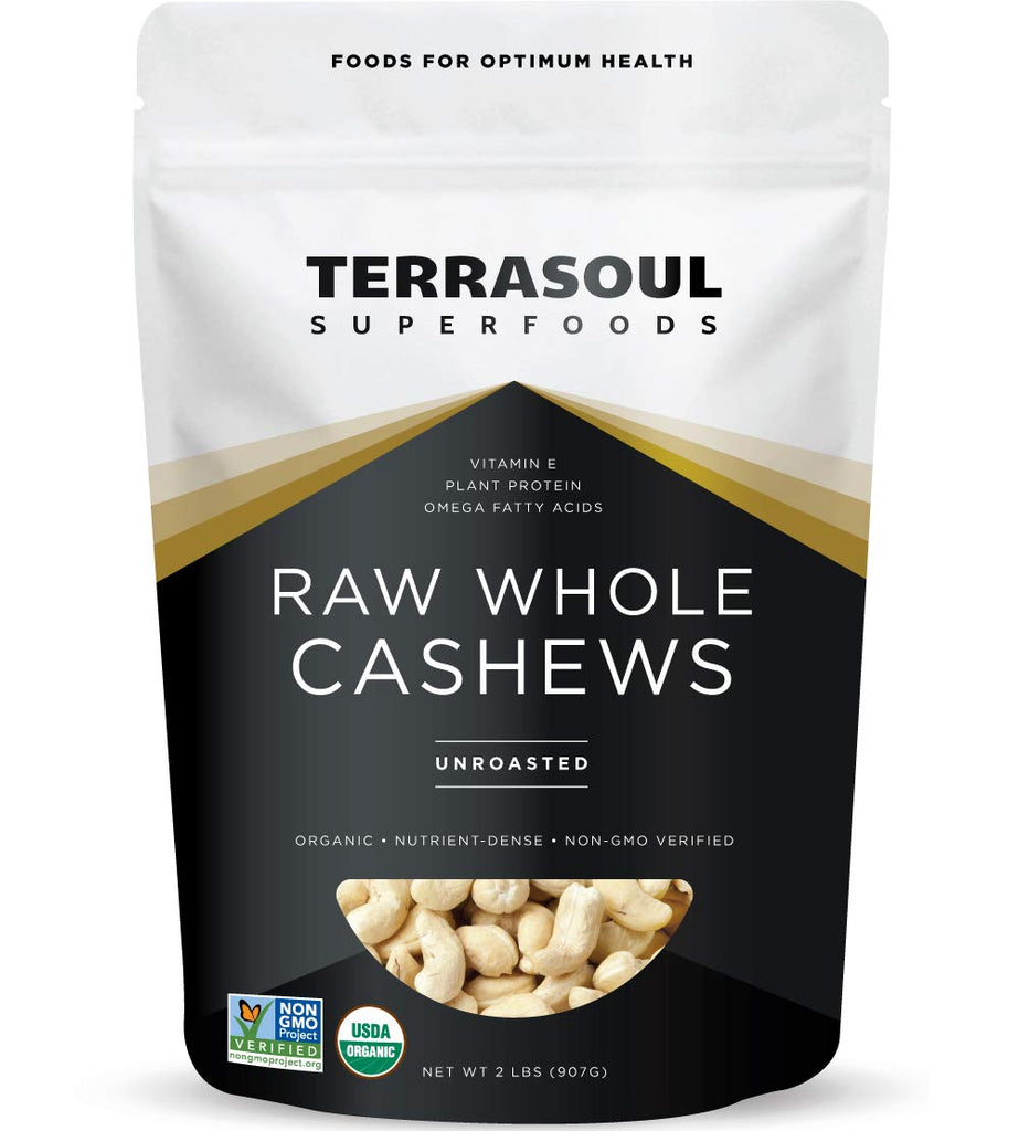 Terrasoul Superfoods - Raw Whole Cashews