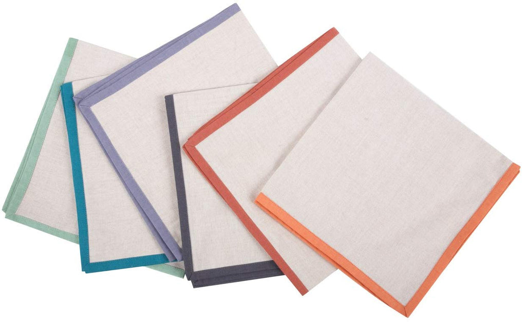 ThomasPaul - Solid Border Napkin Set of 6