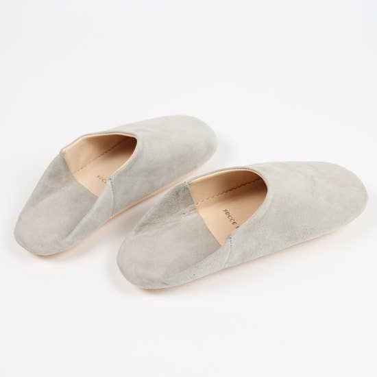 SOCCO - Moroccan Babouche Suede Slippers