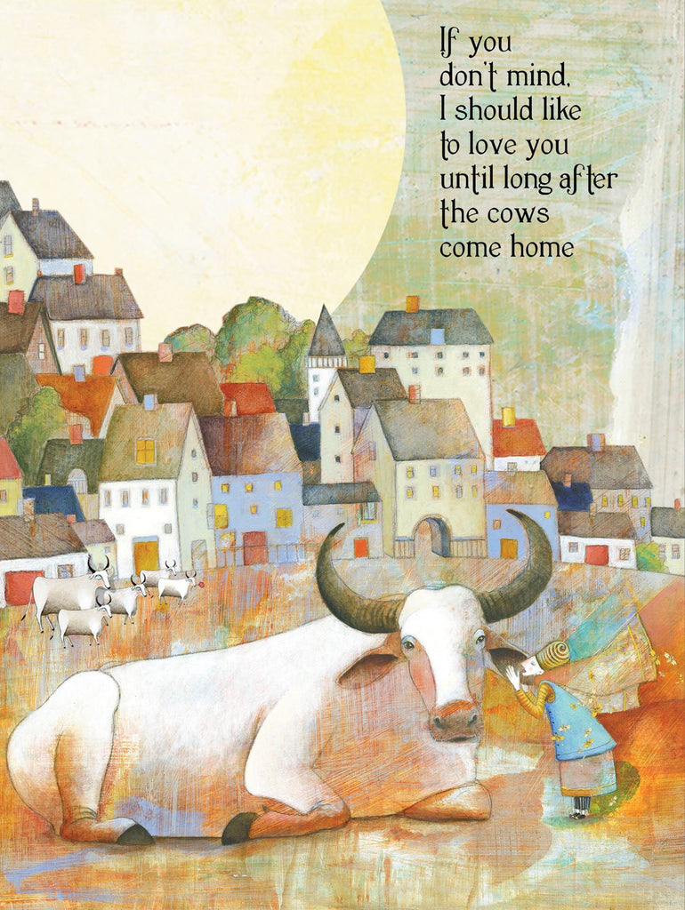 Sacred Bee Card No. 104 Cows Come Home love