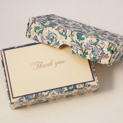 Rossi Thank You Cards - Blue Florentine