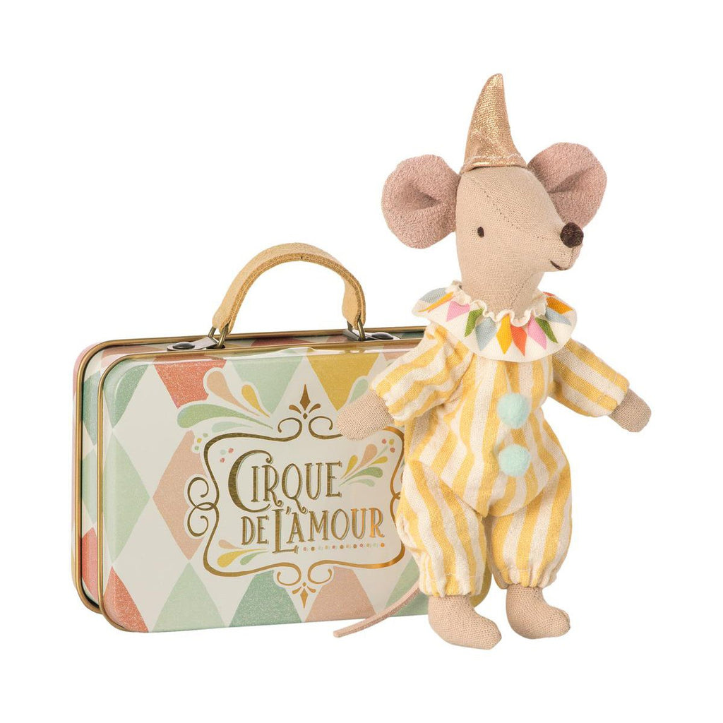 Maileg - Clown Mouse in Suitcase by Maileg