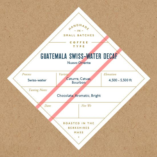 No. Six Depot - Guatemala Swiss Water Decaf Whole Bean Coffee 12 oz.