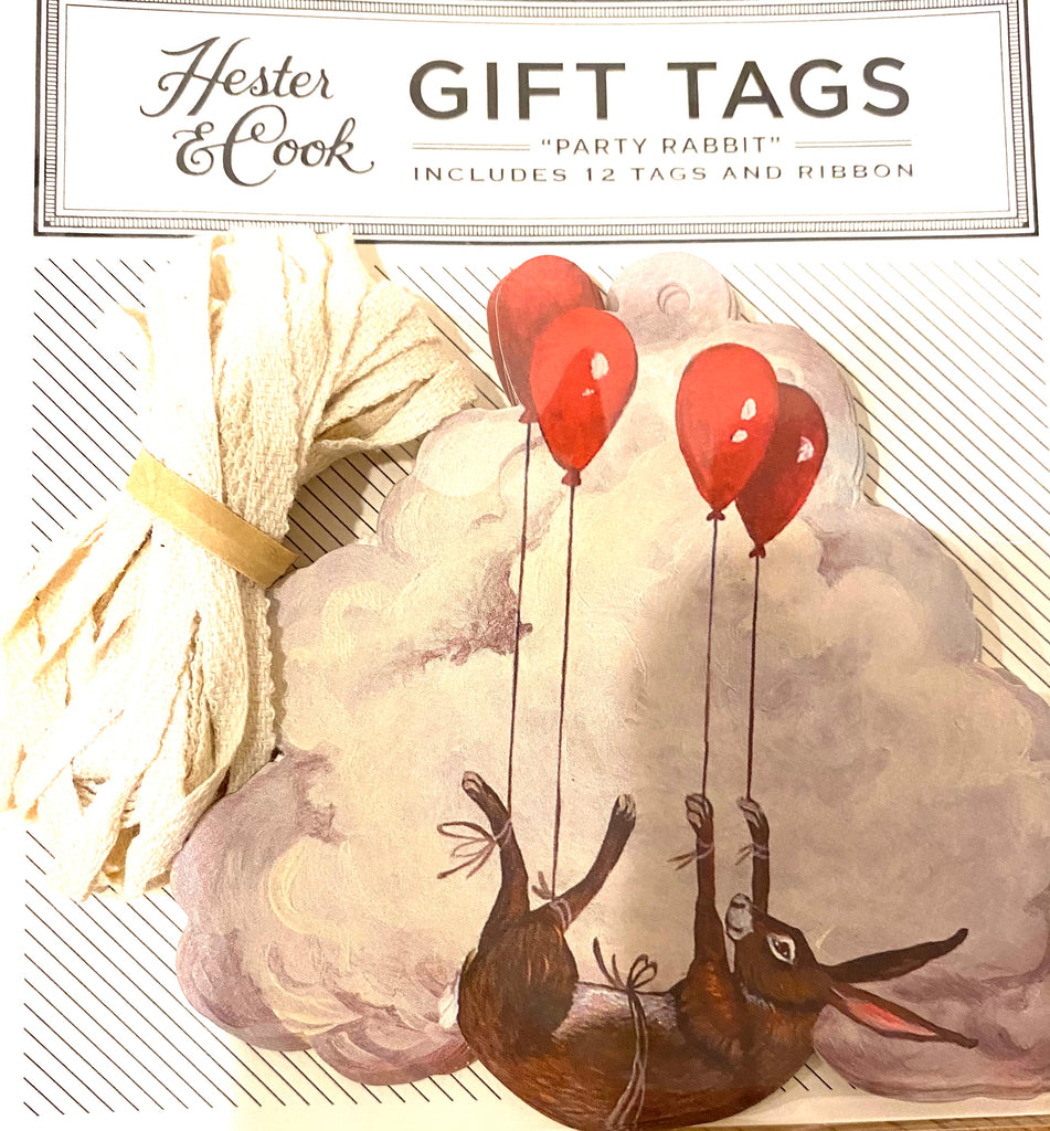 Hester & Cook Party Rabbit Gift Tag