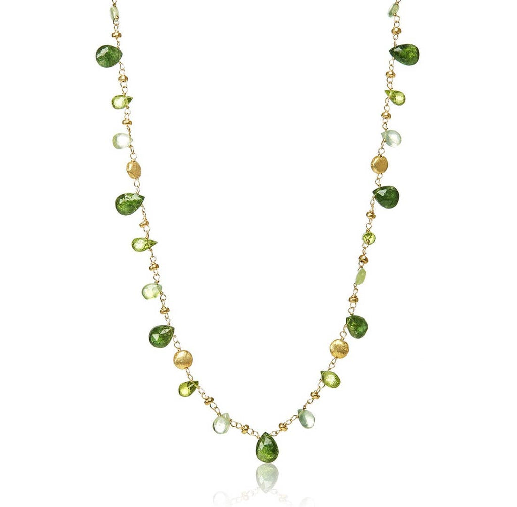 Mabel Chong - San Francisco Hearts Necklace, Short, green