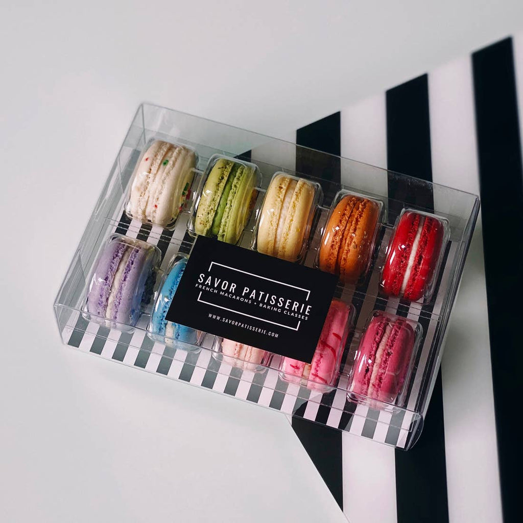Savor Patisserie French Macarons -The Rainbow Box - Gift Box of 10