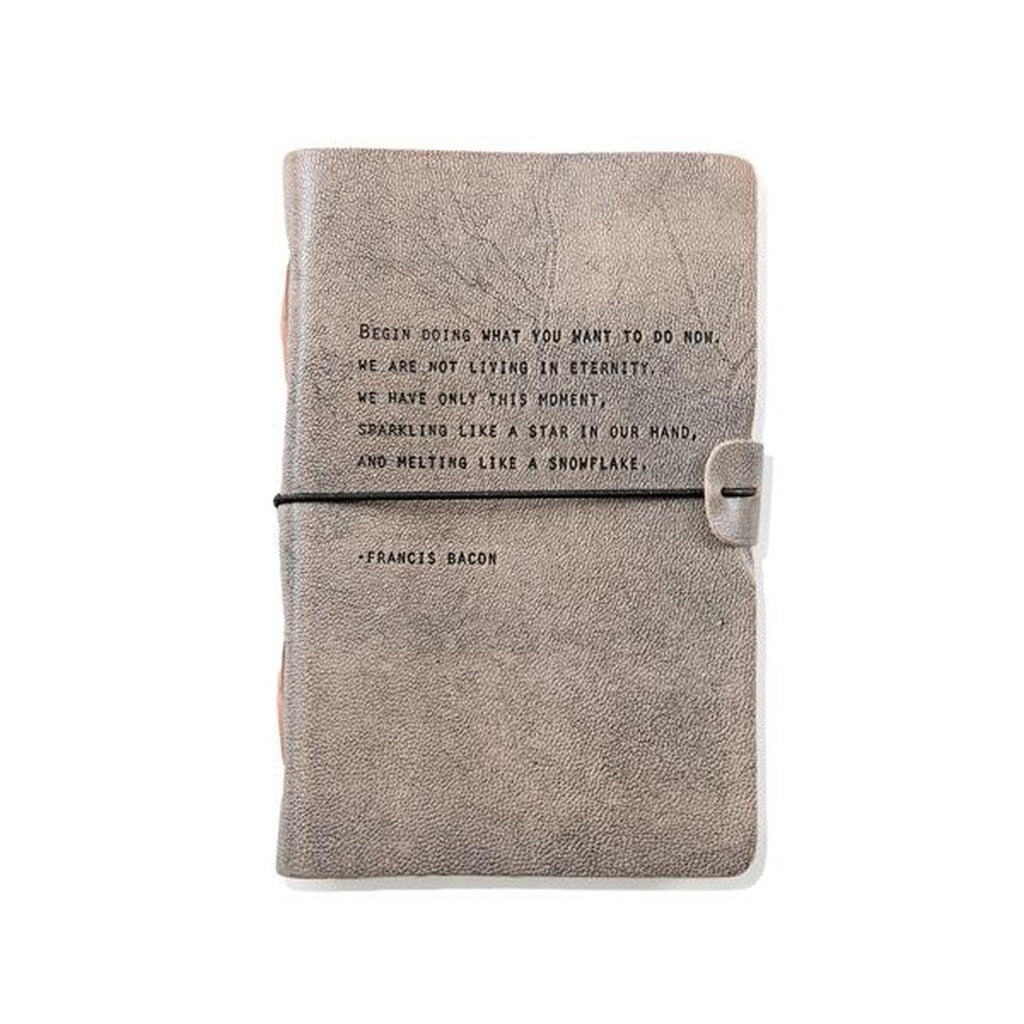 Sugarboo Designs -Artisan Leather Journal - Grey