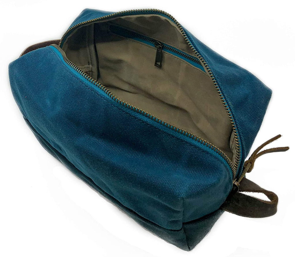 Fat Felt - Dopp Kit - Waxed Cotton Canvas Toiletry Bag