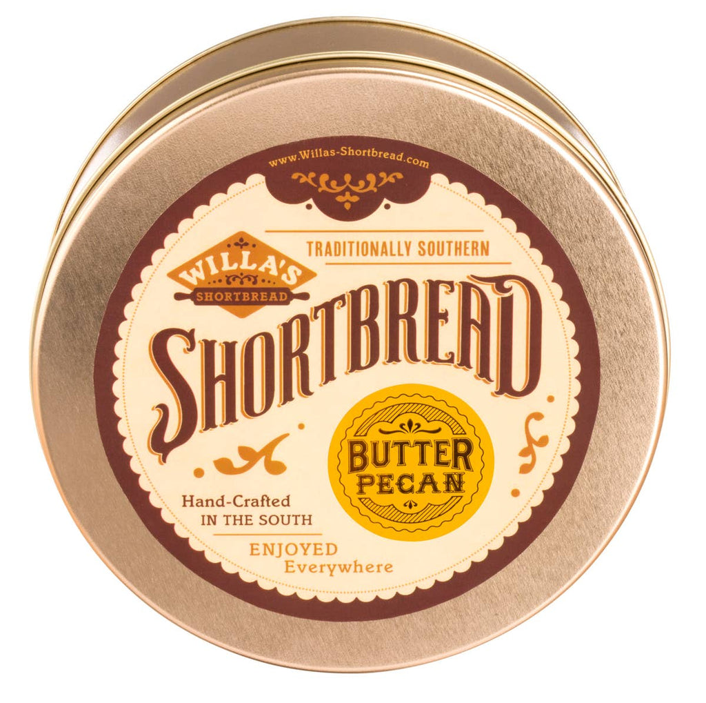 WILLA'S SHORTBREAD - Butter Pecan Shortbread - Classic Tin