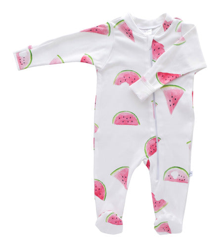 Jennifer Ann - Organic Footie - Watermelon