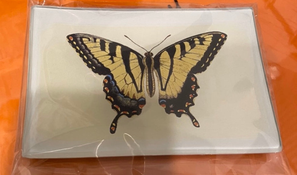Ben's Garden, Decoupage Glass Tray, Tiger Swallowtail Butterfly