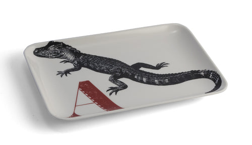 Thomas Paul A Aligator Alphabet Tray melamine