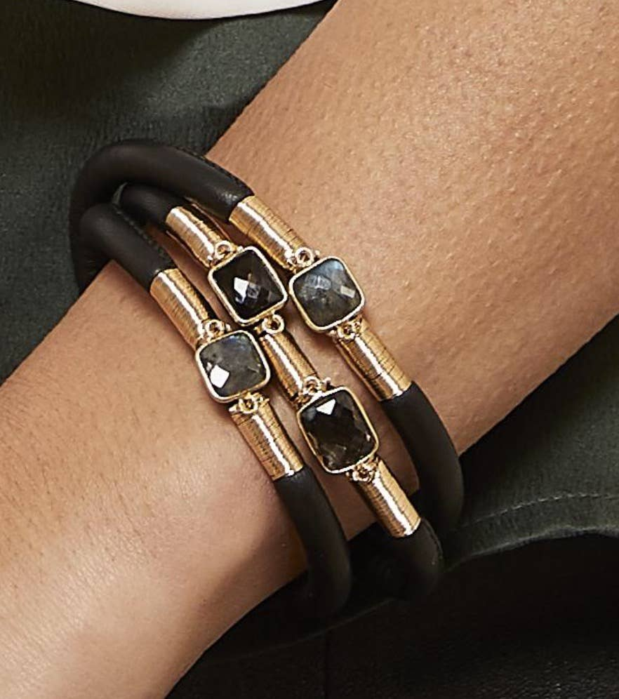 Mabel Chong - Earth Toned Triple Leather Bracelet