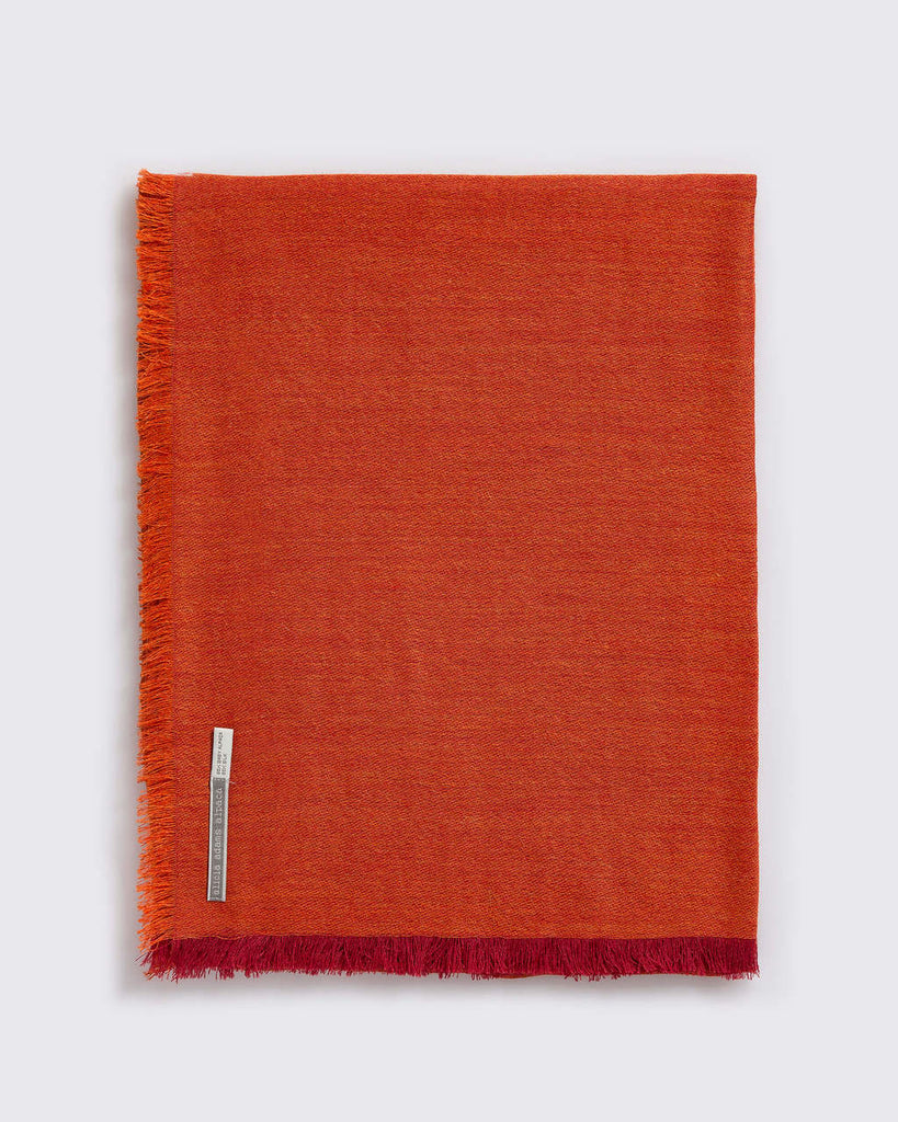 Alicia Adams Alpaca - Harper Wrap, Orange/Indian Summer