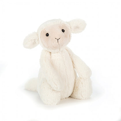 "JellyCat Bashful  Medium Bashful Lamb, 12""H"