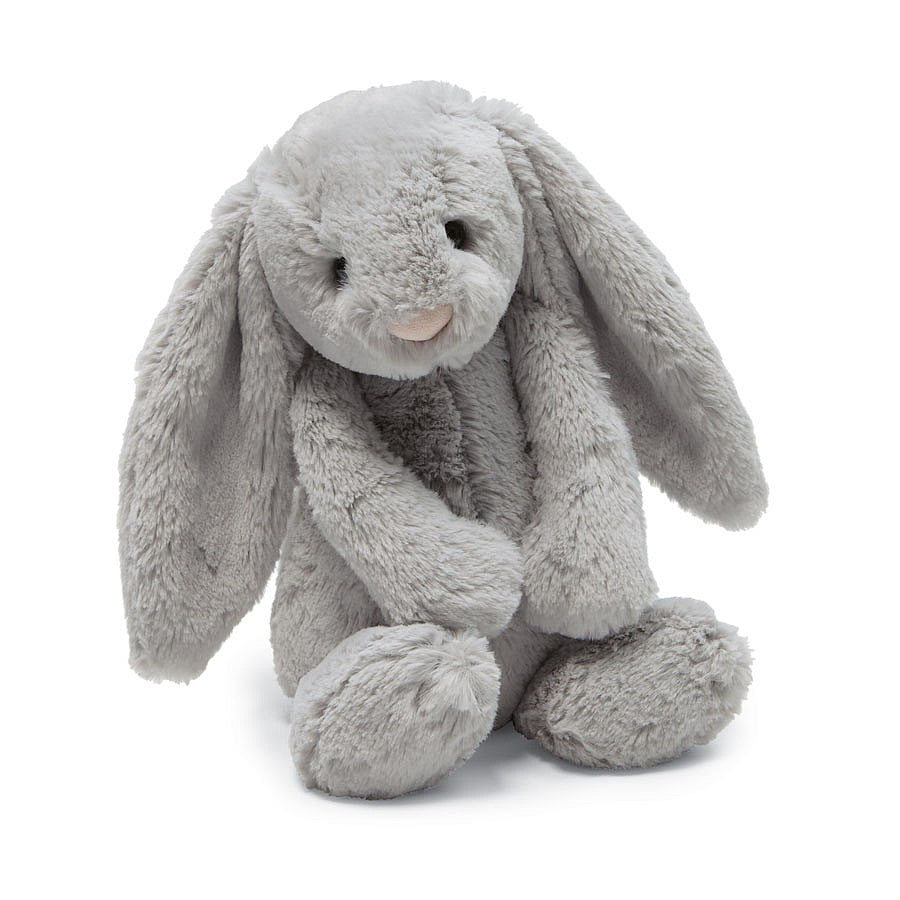 "JellyCat Bashful Soft Small Bashful Grey Bunny, 7""H"