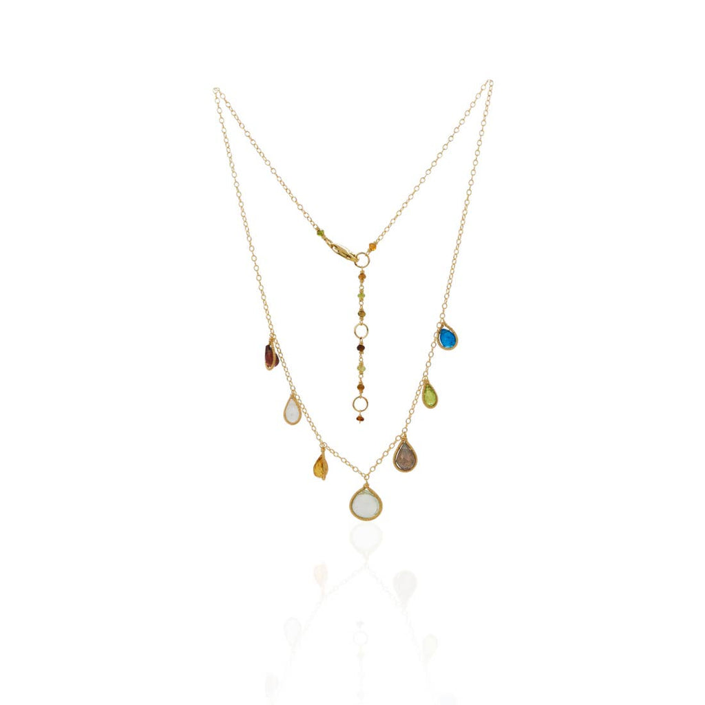 Chuang Yi Gallery - Multi Stone Drop Necklace