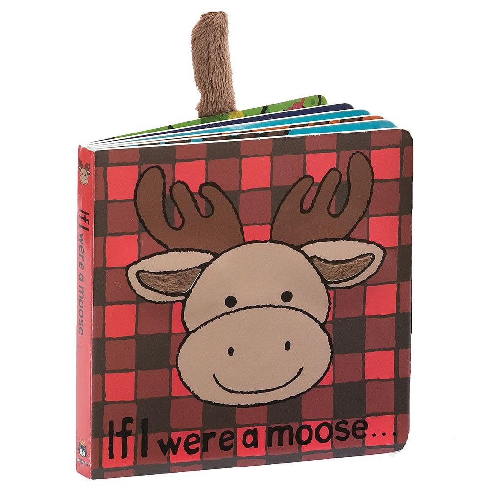 JellyCat - If I Were a Moose Book, Red