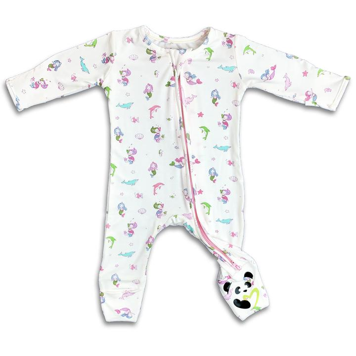 Bellabu Bear  - Mermaid Long Sleeve Convertible Footie/Onesie