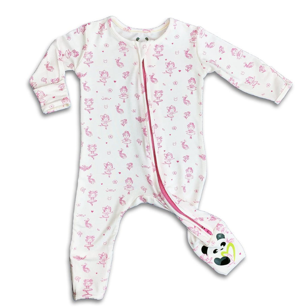 Bellabu Bear  - Ballerina Long Sleeve Convertible Footie/Onesie