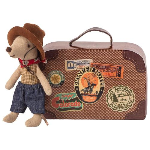 Maileg - Cowboy Little Brother Mouse in a Suitcase