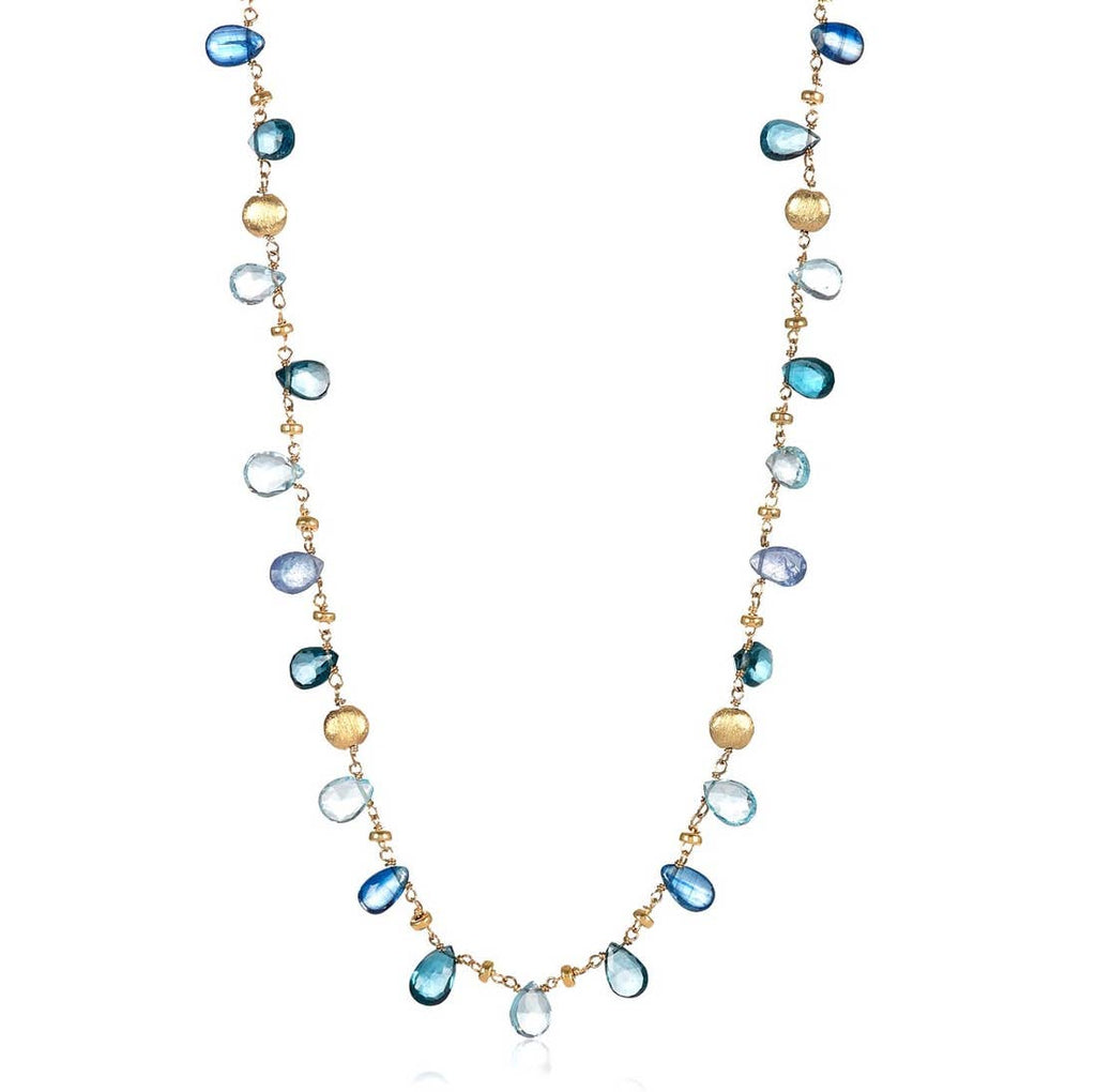 Mabel Chong - San Francisco Hearts Necklace, Short, blue