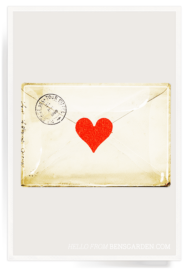 Ben's Garden - Tray: French Heart Envelope