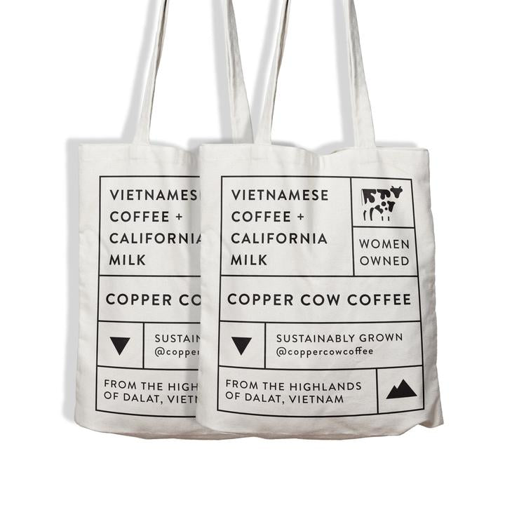 Copper Cow Coffee - Coffee Lovers' Canvas Tote Bag
