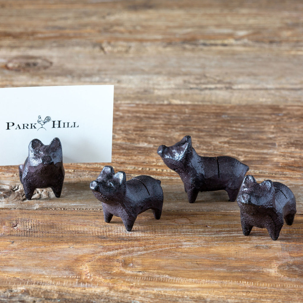 Park Hill - Cast Iron Piglet Place Card Holder