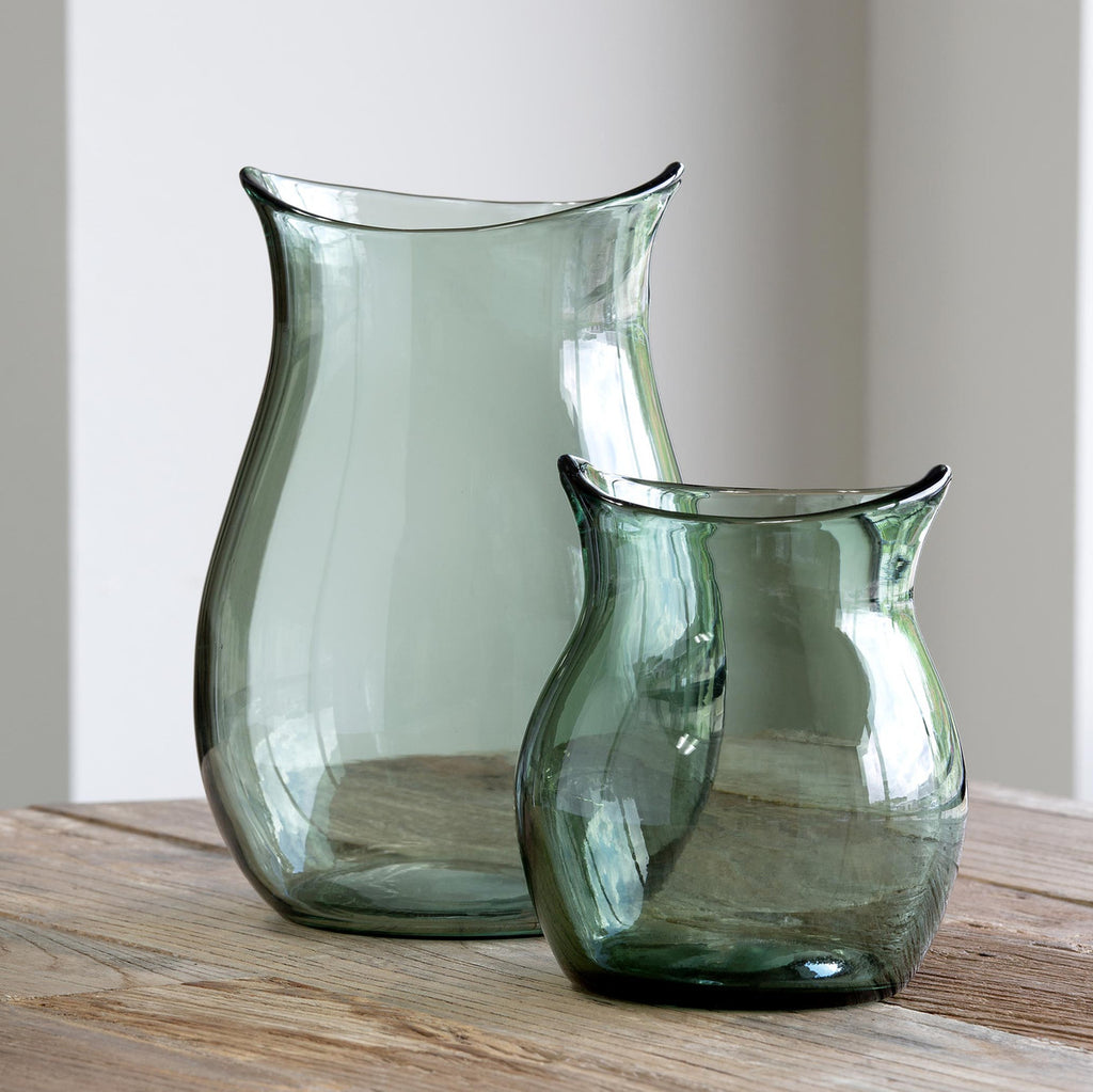 Park Hill - Greenfields Glass Flower Vase, Large