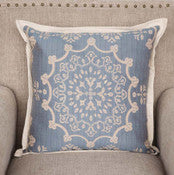 Park Hill - Edge Hill Down Pillow, Wedgewood Blue