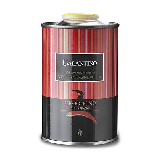 ZIA PIA - Chili Pepper (Peperoncino) Extra Virgin Olive Oil by Galantino 250 ml