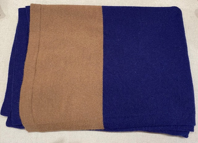 Alicia Adams Alpaca - Band Throw Purple/Cognac