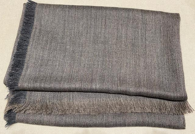 Alicia Adams Alpaca - Harper Wrap, Charcoal/Dark Taupe