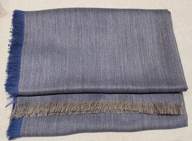 Alicia Adams Alpaca - Harper Wrap, Manor Blue/Dark Taupe