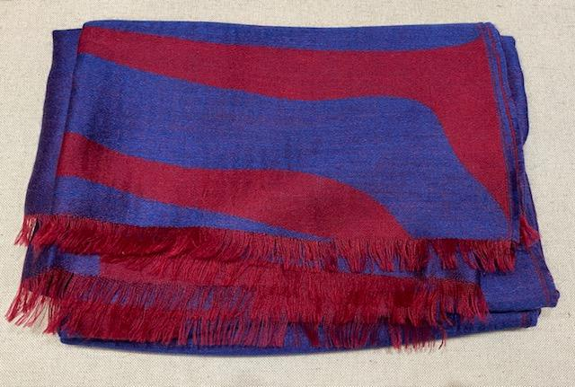 Alicia Adams Alpaca - Safari Wrap, Red/ Blue