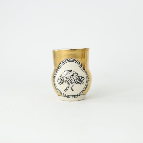 HOPE + MARY Woodland Animal Small Gold Vase