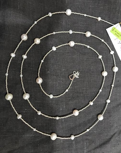 Ali & Bird Jewelry - Pearl on Silver Necklace