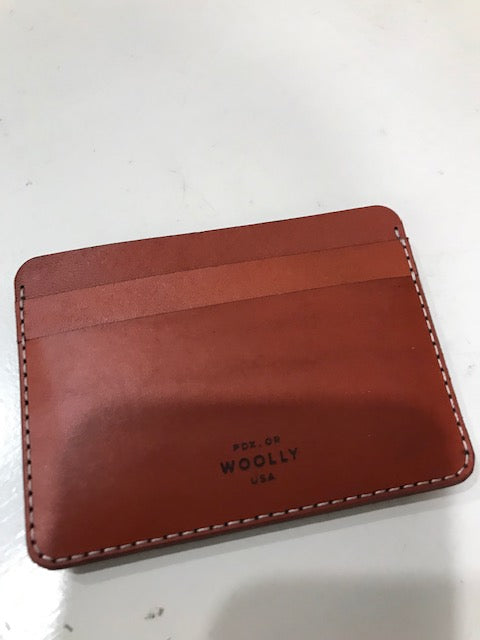 Woolly Half Wallet - Brown